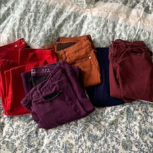 Set of 5 fall colored pants by Celebrity Pink!
